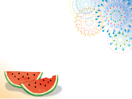 Fireworks and watermelon