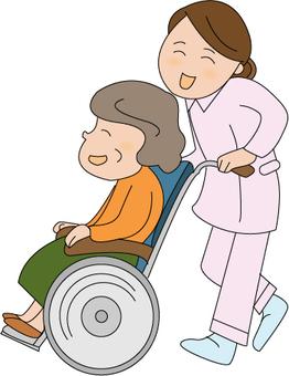 Women in wheelchairs
