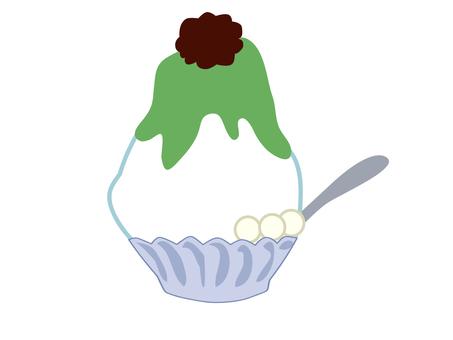 Shaved ice (matcha taste)