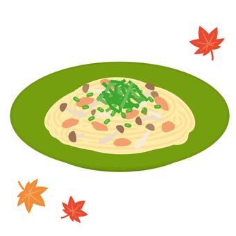 Autumn side dish strawberry cream pasta
