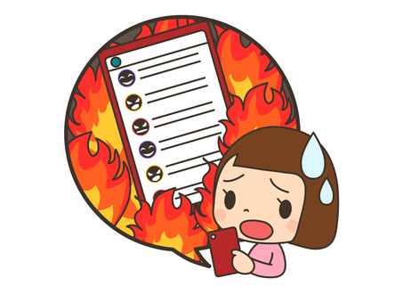 Internet / SNS flaming_smartphone_woman