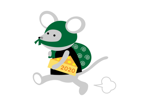 Illustration of a mouse stealing 2020 cheese