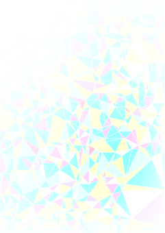 Pastel tone polygon frame vertical background material