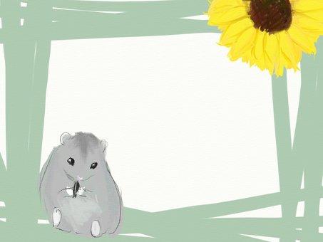 Hamster and sunflower frame