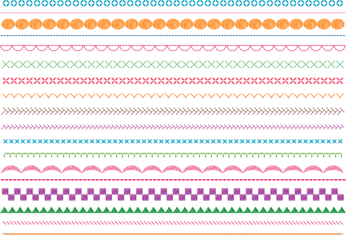 Embroidery stitching style _ line _ color