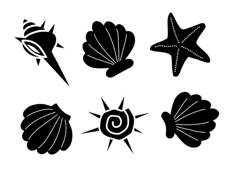 Shell silhouette material set 01