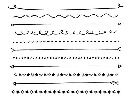 Simple handwriting line · separator line