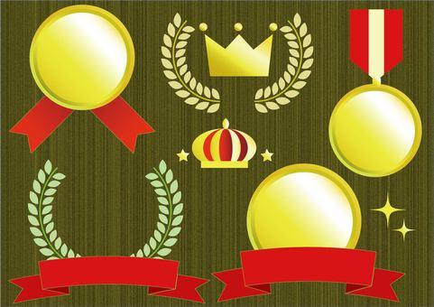 Gold award set
