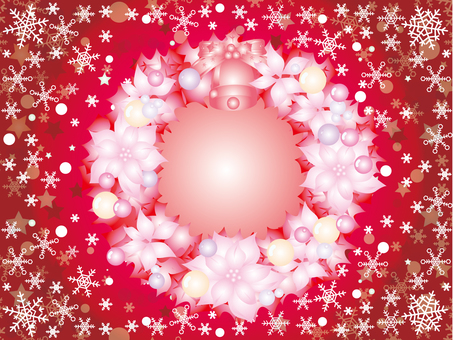 Christmas snow crystal _ lease red