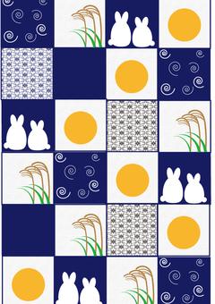 A checker pattern rabbit fall