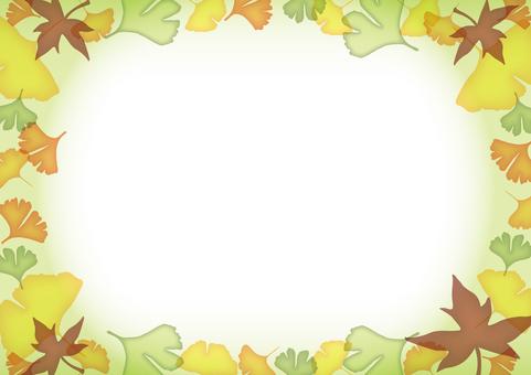 Autumn decorative frame · Green
