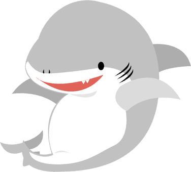 A smiley shark
