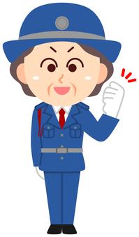 Security Guard Senior Woman