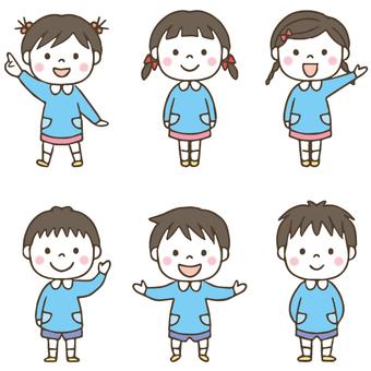 Hand-painted cute child / nursery / kindergarten