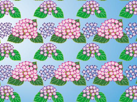 繡球花壁紙漸變