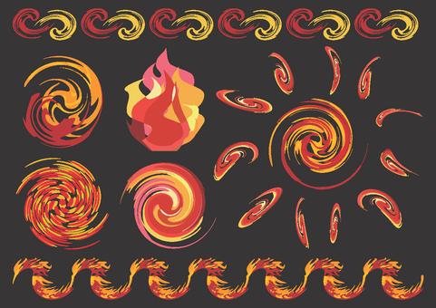 Flame motif