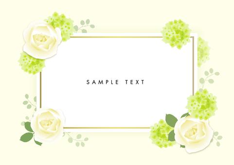 花框綠色×金