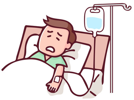 Patients who receive hospital drip