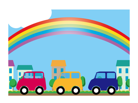 Car and Rainbow