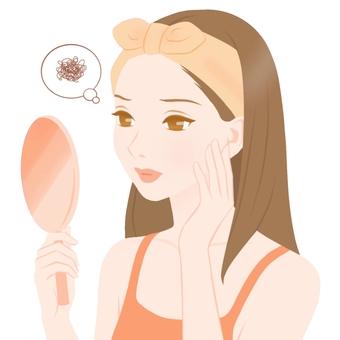 Women with skin problems Orange type