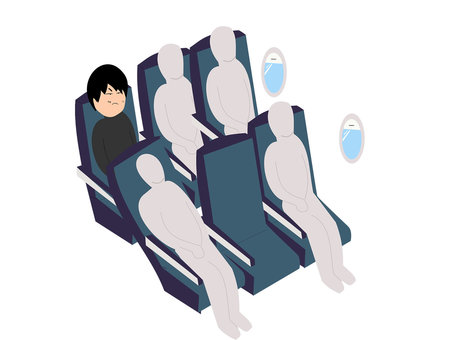 Airplane seat aisle side