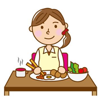 여자 _ 식사