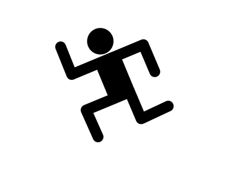 People run silhouette run away