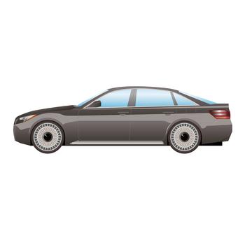 Car side luxury sedan 2