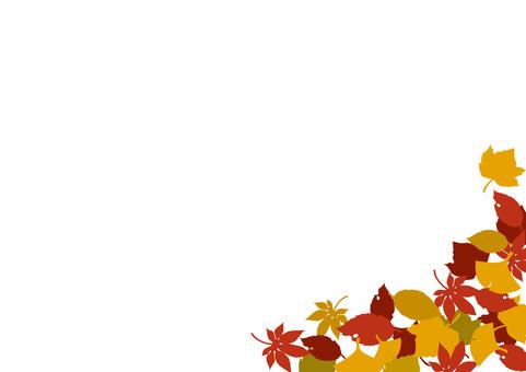 Corner decoration of fallen leaves