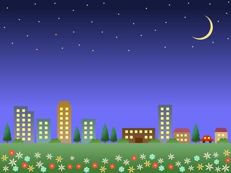 Spring night city