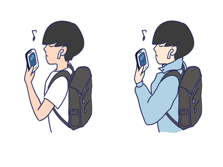 Listening to music on a smartphone
