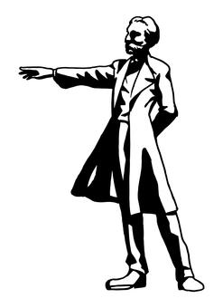 克拉克博士雕像