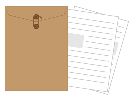 Envelope attached with documents