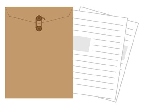 信封附有文件