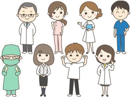 8 people medical team