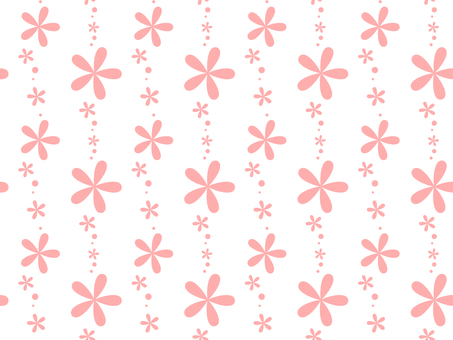 Floral Heart _ Pattern _ White Pink