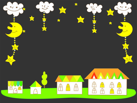 A sparkling town of the night
