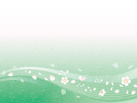 Cherry flowing water image Washi 04