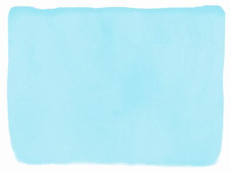 Watercolor frame light blue