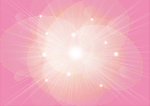 Oval round ball and rays - pink