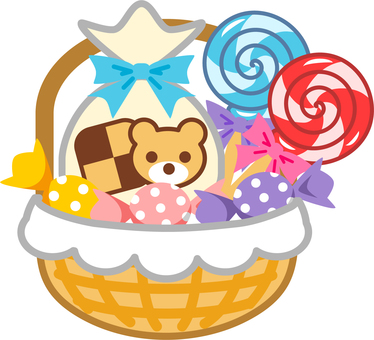 Sweets with baskets 1