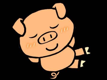쉬고있는 돼지 군