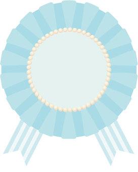 Chiffon rosette (light blue)