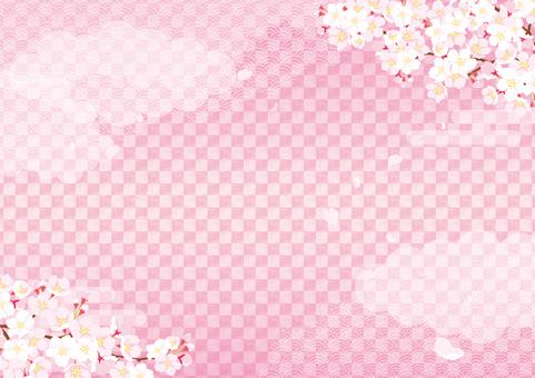 Japanese style background 15 Pink _ Sakura _ Horizontal