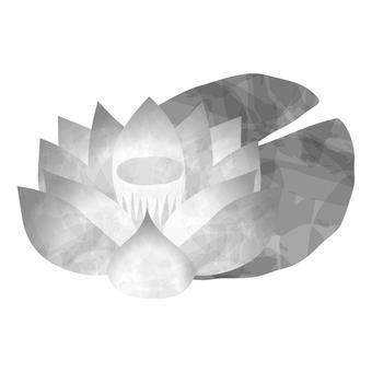 Lotus flower monochrome