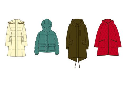 Winter outer hanger illustration
