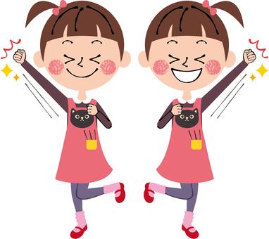 Yatter happy girls happy child whole body