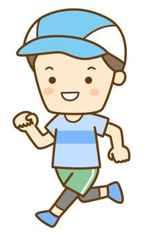 달리기하는 남자