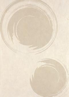 Japanese paper _ circular _ brush pattern _ vertical type 2160