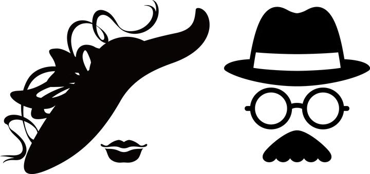 Gentleman lady face hat